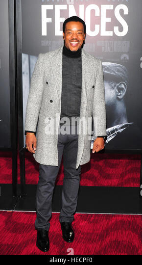 New York, USA. 19th Dec, 2016. Russell Hornsby attends the 'Fences' New York screening at Rose Theater, - Stock-Bilder