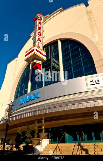 Regal Pointe Orlando Stadium 20 & IMAX movie theater at Pointe Orlando on International Drive, Orlando Florida - Stock Image