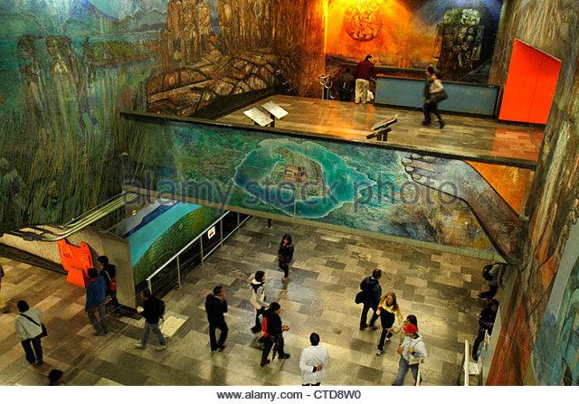 Mexico Mexico City DF D.F. Ciudad de México Federal District Distrito Federal Mexico City Metro subway Tacubaya - Stock Image