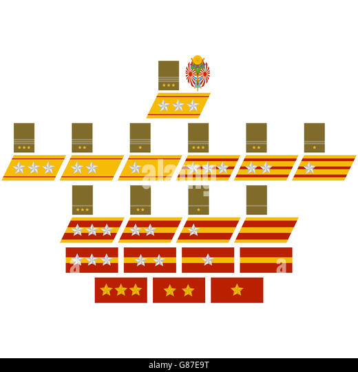 Insignia to the Imperial Japanese Army. The illustration on a white background. - Stock Image