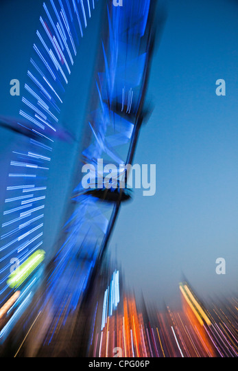England, London, London Eye - Stock Image