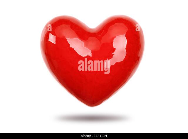 Red heart - Stock-Bilder
