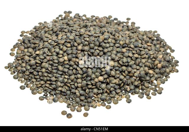Pile of Lentils vertes - Stock Image
