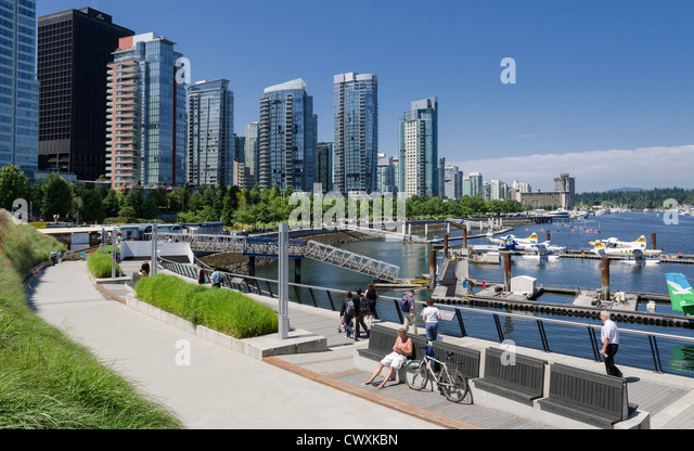 Vancouver, Canada - city waterfront - Stock Image