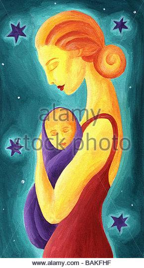 mother and child - Stock-Bilder