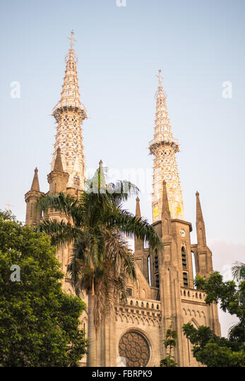 Roman Catholic Cathedral in Jakarta, Indonesia - Stock-Bilder