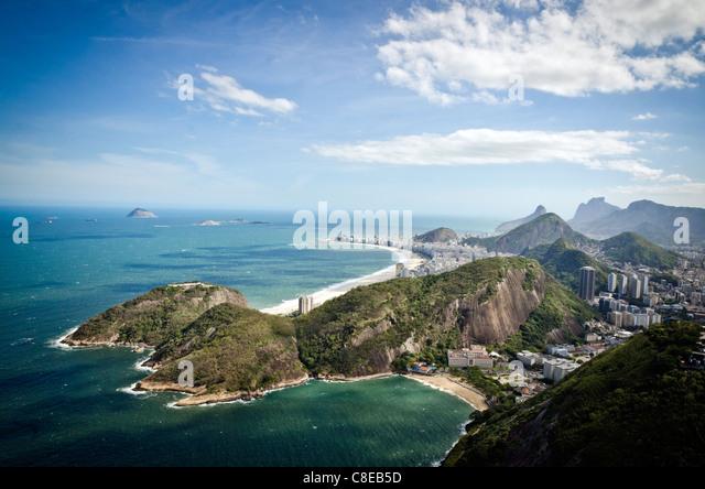 Rio de Janeiro coastline, Brazil - Stock Image