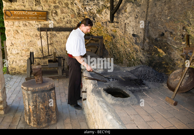 Forge, Ethno-Museum, Krka National Park, Dalmatia, Croatia, Europe - Stock-Bilder