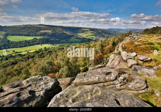 Froggatt Edge; Peak District; Derbyshire; UK - Stock Image