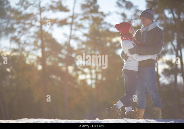 Young couple spending time in natural environment - Stock-Bilder