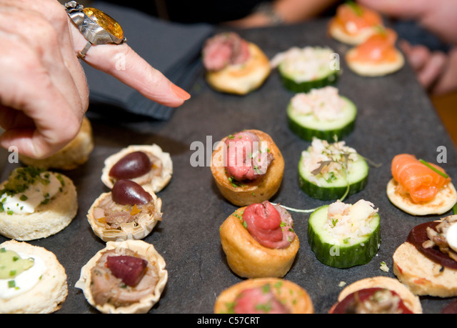 Tray of canapes stock photos tray of canapes stock for Perspex canape trays
