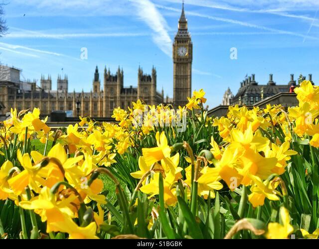 Spring in London - Stock Image