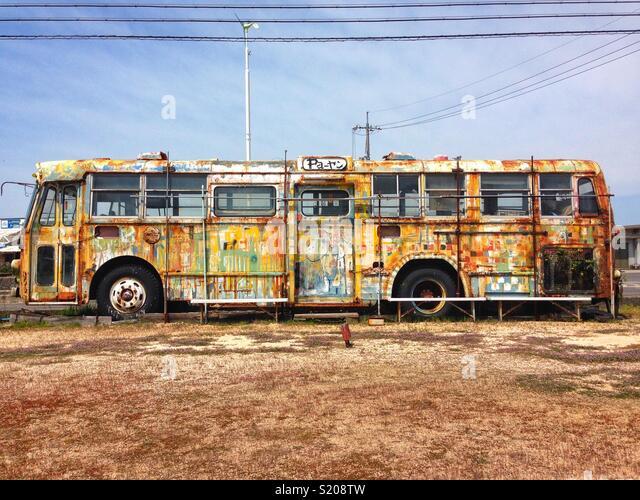 Bus, Onomichi - Stock Image