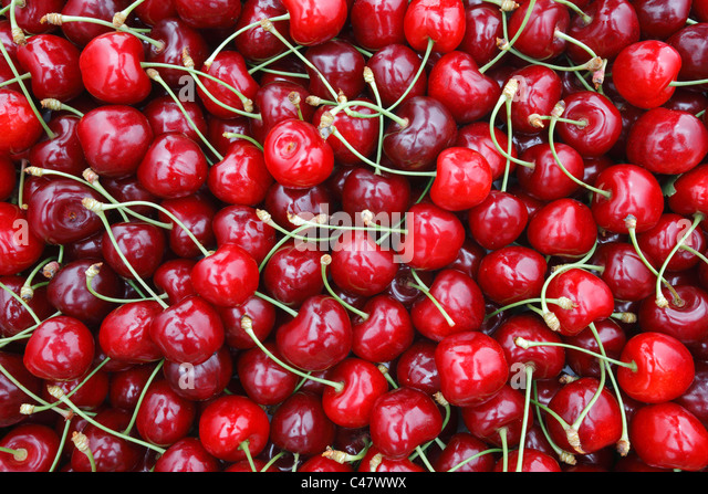 Cherry fruit texture - Stock Image
