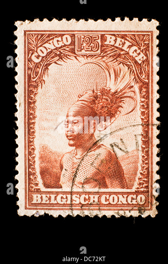 old Belgian Congo postage stamp - Stock-Bilder