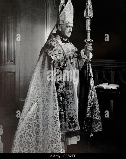 Photograph of Archbishop of Canterbury, Geoffrey Fisher (1887-1972) Archbishop of Canterbury from 1945 to 1961. - Stock Image