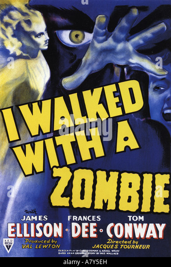I WALKED WITH A ZOMBIE poster for 1943 RKO film - Stock Image