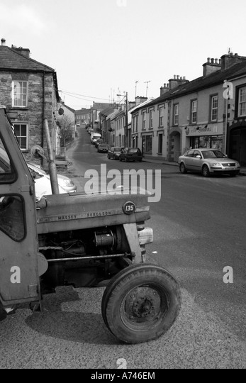 quiet street in Ramelton, County Donegal, Republic of Ireland - Stock Image