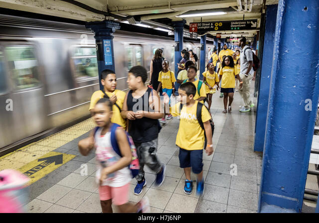 Manhattan New York City NYC NY Upper East Side subway MTA public transportation 59 Street Lexington Avenue station - Stock Image