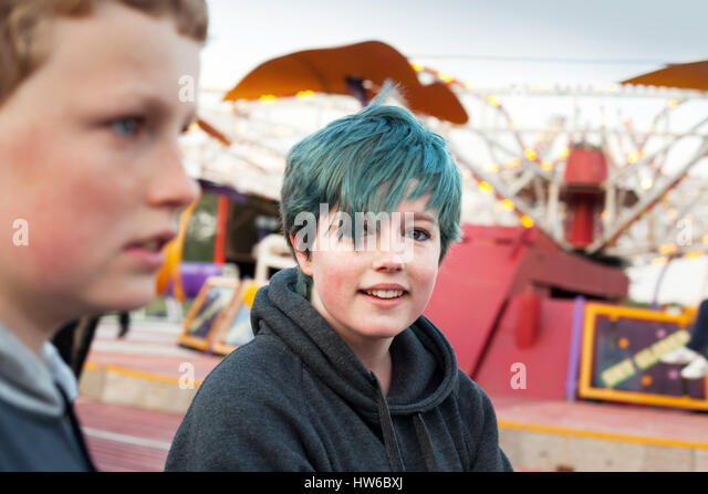 Kids at the fair - Stock Image