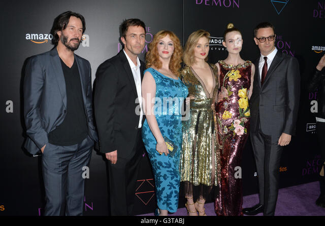 LOS ANGELES, CA. June 14, 2016: Actors Keanu Reeves, Desmond Harrington, Christina Hendricks, Bella Heathcote, Elle - Stock Image