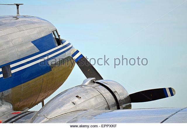 Vintage airplane Douglas DC-3 Dakota - Stock Image