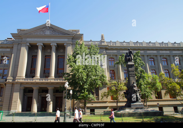 Chile Santiago Compania de Jesus Tribunales de Justicia Corte Suprema Supreme Court building highest court law judicial - Stock Image