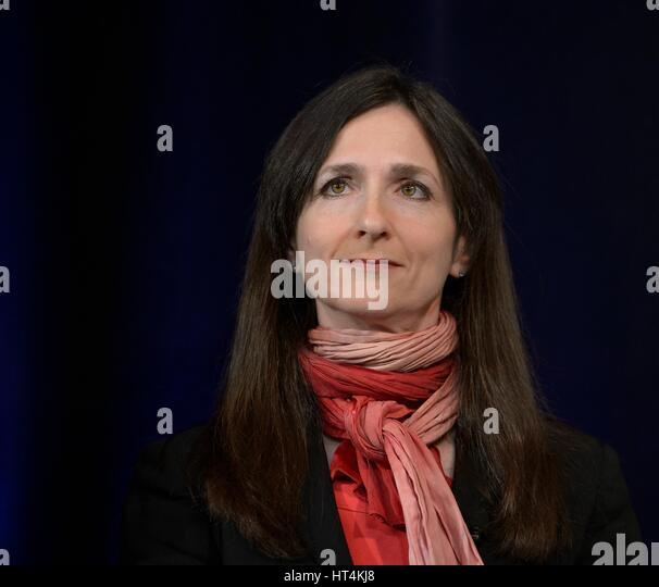 Massachusetts Institute of Technology Professor of Planetary Science and Physics Sara Seager presents research findings - Stock Image