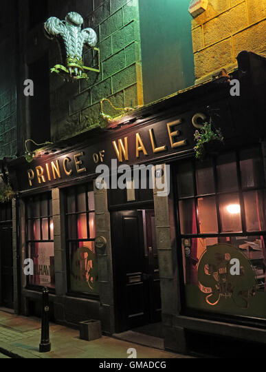 Prince Of Wales, Real Ale Pub in Aberdeen, CAMRA and Orkney beers, Scotland, UK - Stock Image