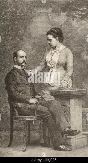 The King and Queen of Greece, circa 1887 - Stock Image