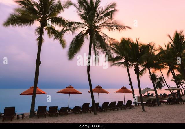 Sunrise at the Gulf of Thailand near Hua Hin Beach. - Stock Image
