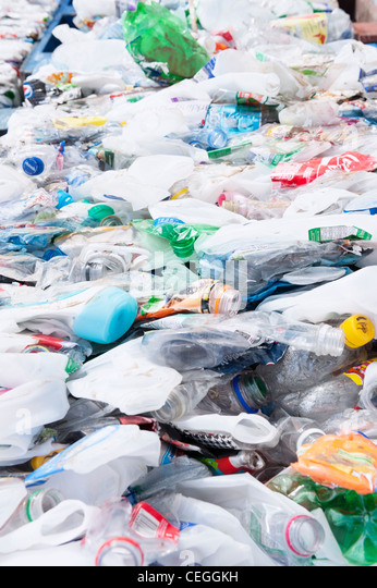 plastic bottles for recycling - Stock Image