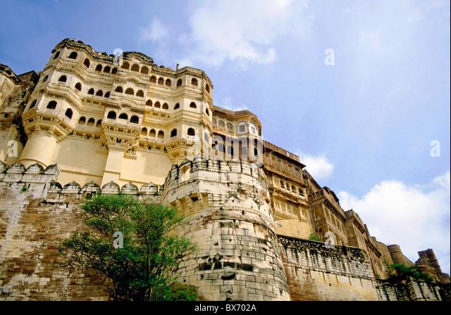 Mehrangarh Fort, Jodhpur, Rajasthan, India. - Stock Image