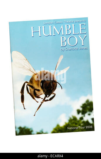 Programme for the 2008 London Classic Theatre production of Humble Boy by Charlotte Jones at Greenwich Theatre. - Stock Image