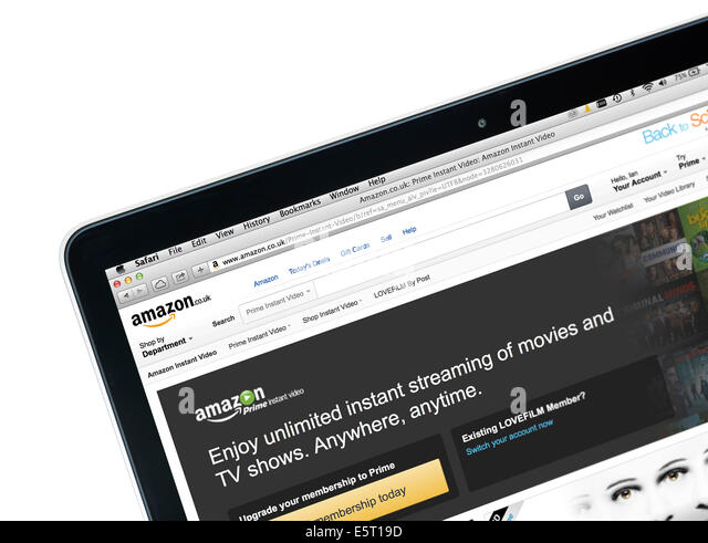 Amazon Prime Instant Video (formerly LoveFilm Instant), viewed on a 13' Apple MacBook Pro Retina computer, UK - Stock Image