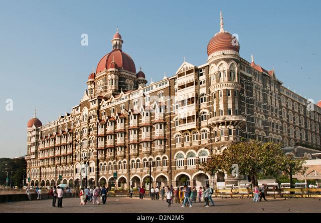 Mumbai India Taj Mahal Palace Hotel Colaba Bombay - Stock Image