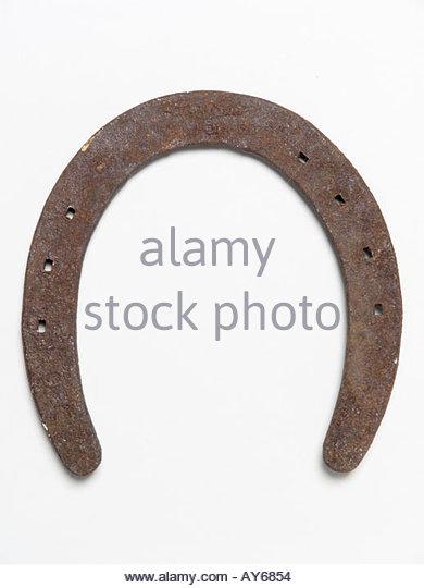 still life of horseshoe - Stock Image