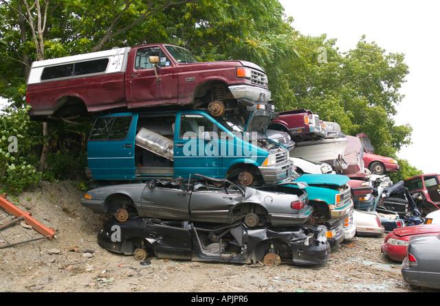 Salvage Yard for Cars Near Boston Massachusetts - Stock Image