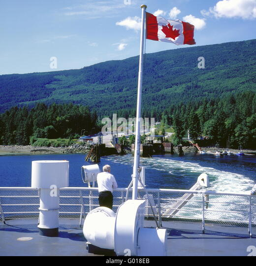 Ferry boat at Vancouver, British Columbia,Canada - Stock Image