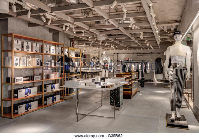Electronics and gadgets area. Harvey Nichols Menswear, London, United Kingdom. Architect: Virgile+Partners , 2016. - Stock Image
