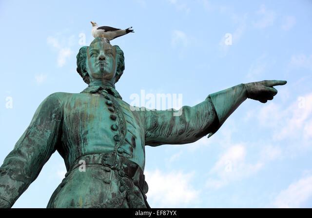 Statue of Karl XII king of Sweden in stockholm. Sweden. - Stock Image