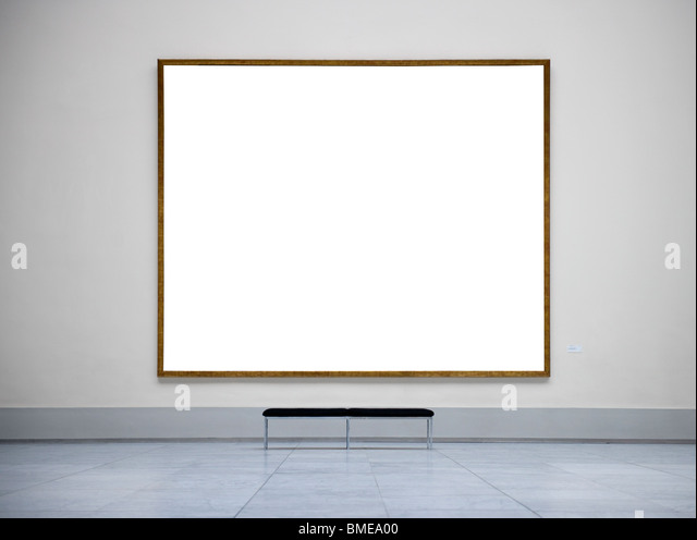 Empty frame in a museum - Stock Image
