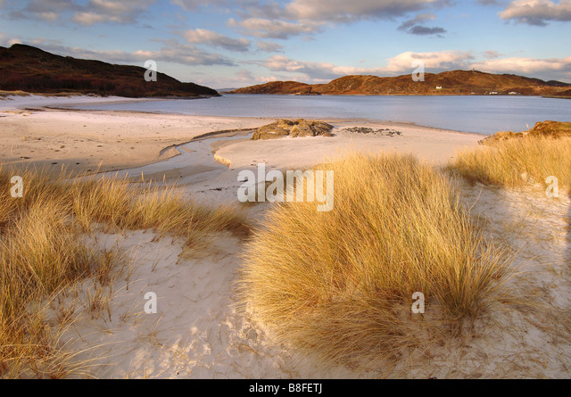 The Silver Sands of Morar - Stock Image