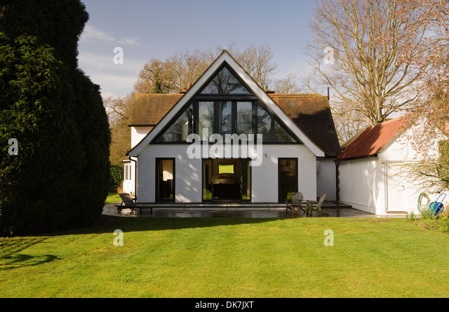 Pitched Roof Garden House Stock Photos Amp Pitched Roof