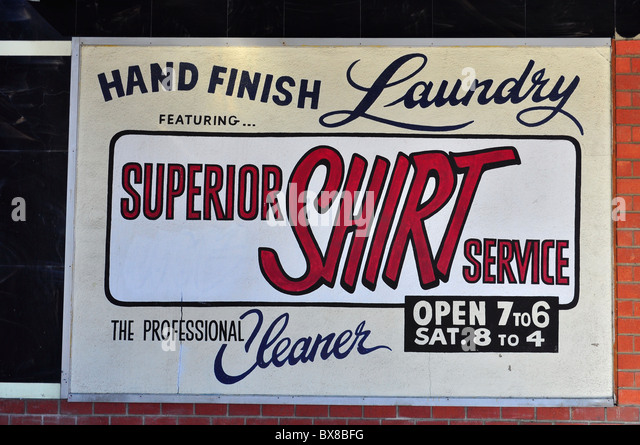 Laundry Sign Stock Photos Amp Laundry Sign Stock Images Alamy