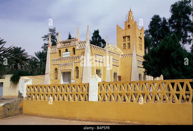 Algeria Ouargla Formal french colonial architecture Sahara Desert - Stock-Bilder