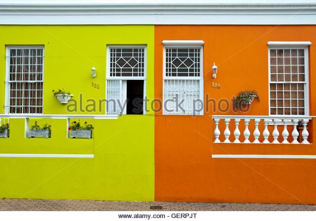 Row Pastel Coloured Terraced Houses Stock Photos Amp Row