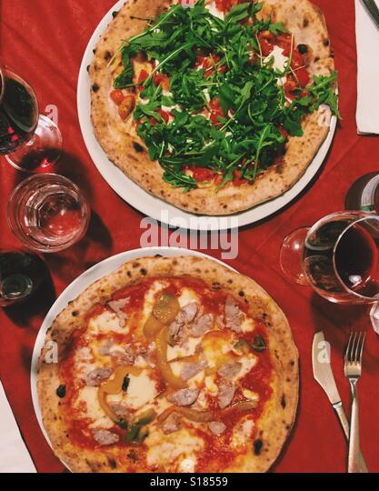 Two Pizzas - Stock Image