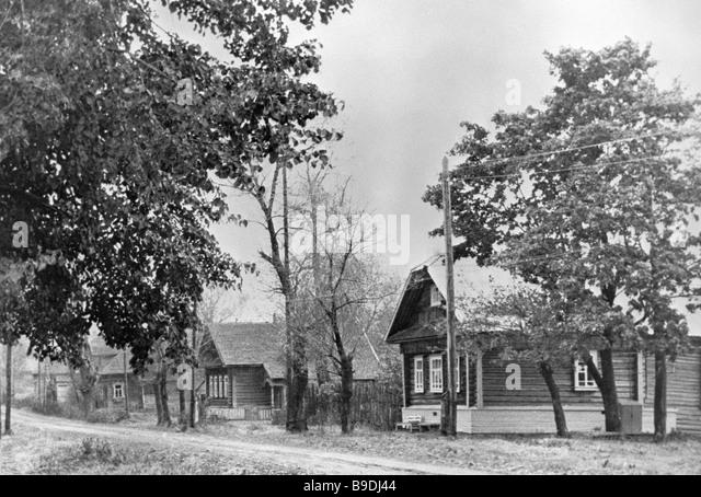 Ievlevo village Kalinin region - Stock Image