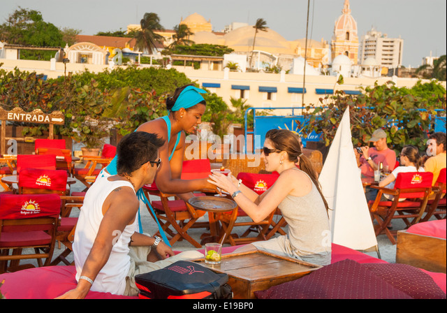 Cafe del Mar, Cartagena de Indias, Colombia - Stock Image